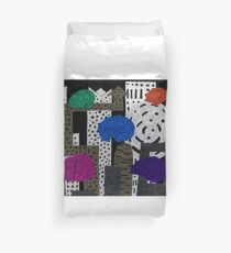 Invasion at Night Duvet Cover
