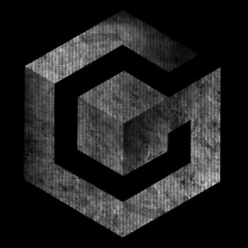 ° GEEK ° Gamecube B & W Logo by ArtLOGO