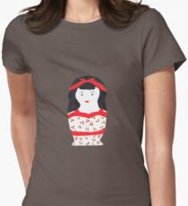 Retro Rockabilly Nesting Doll Womens Fitted T-Shirt