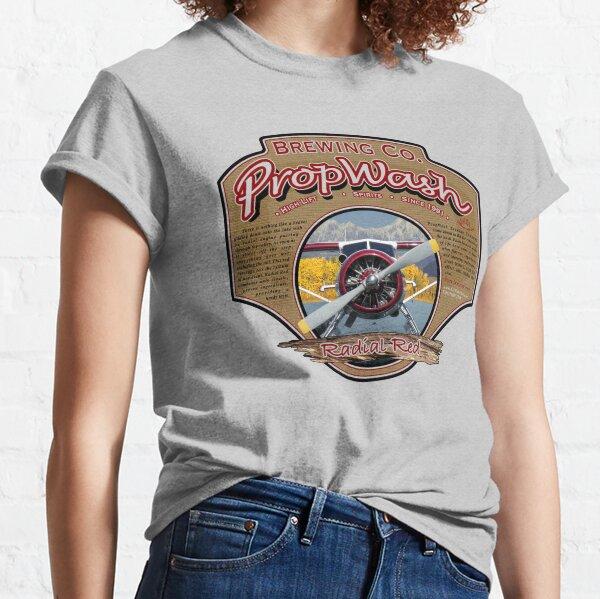 PropWash Brewing Co. - Radial Red DHC-2 Beaver Floatplane Classic T-Shirt