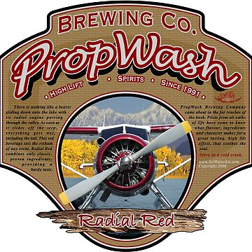 PropWash Brewing Co. - Radial Red DHC-2 Beaver Floatplane by AirWaterArt