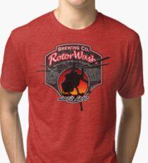 RotorWash Brewing Co. - Lean'n Lager Skycrane Tri-blend T-Shirt