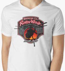RotorWash Brewing Co. - Lean'n Lager Skycrane Men's V-Neck T-Shirt