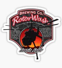 RotorWash Brewing Co. - Lean'n Lager Skycrane Sticker
