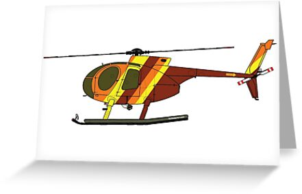 Hughes 500D Helicopter by AirWaterArt
