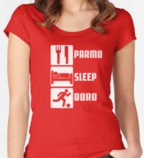 PARMO SLEEP BORO Women's Fitted Scoop T-Shirt