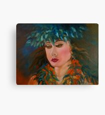 Merrie Monarch Hula Maiden Canvas Print