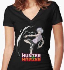 hunter x hunter kilua Women's Fitted V-Neck T-Shirt