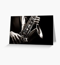Saxophonist - Jazz Greeting Card
