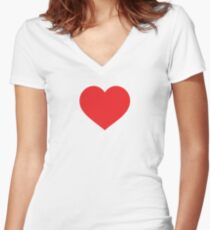 Heart-I love you Women's Fitted V-Neck T-Shirt