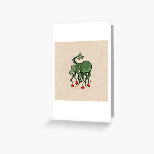 Xmas Octo Greeting Card