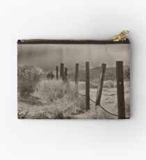 Desert Fence in 29 Palms, CA Studio Pouch