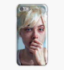 crying portrait iPhone Case/Skin