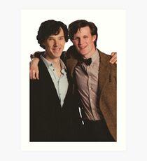 Sherlock and Eleven Art Print