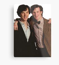 Sherlock and Eleven Metal Print