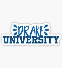 Drake University ~text~ Sticker