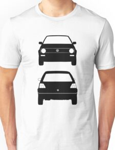 VW Golf MK2 Front and Rear Black Unisex T-Shirt