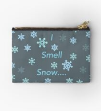 I Smell Snow Zipper Pouch