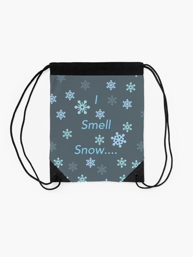 Alternate view of I Smell Snow Drawstring Bag