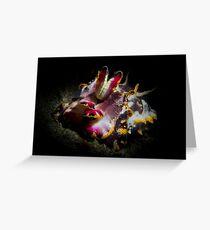 Sepia flamboyant Greeting Card