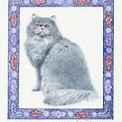Blue Persian by Debra McFarlane