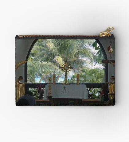 Altar amid Palms Studio Pouch