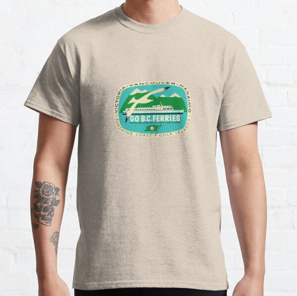 BC Ferries Victoria Vancouver Vintage Travel Decal Classic T-Shirt
