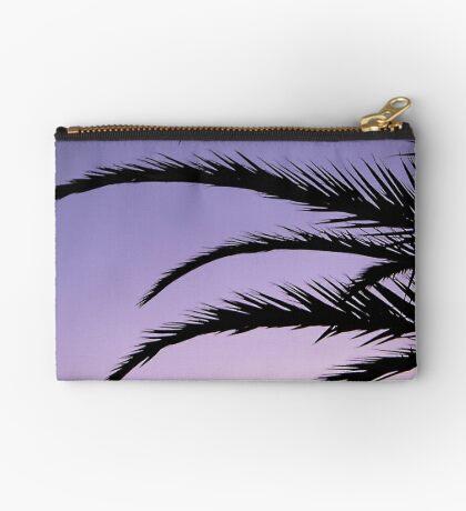 Palm tree sunset Zipper Pouch