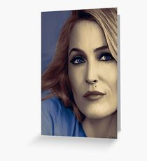 Gillian Anderson portrait Greeting Card