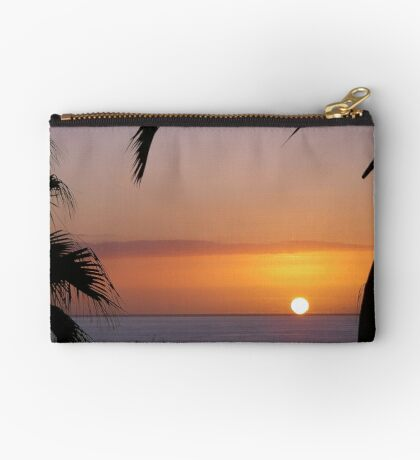Sunset in Los Gigantes Zipper Pouch