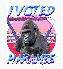 I VOTED HARAMBE Vintage T-shirt Photographic Print