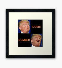 dumb trump Framed Print