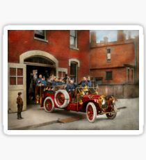 Fire Truck - The flying squadron 1911 Sticker