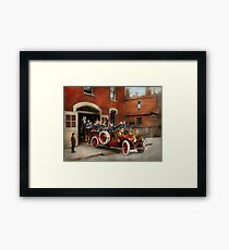 Fire Truck - The flying squadron 1911 Framed Print