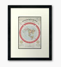 Flat Earth Framed Print