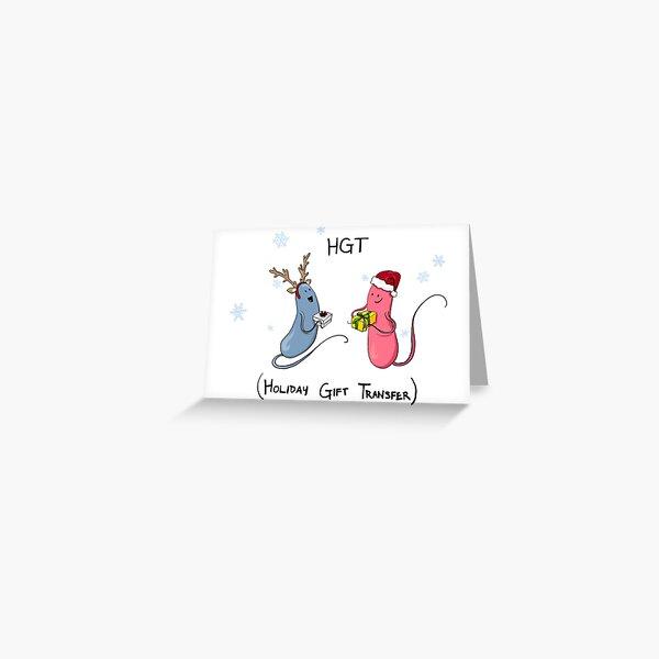 Holiday Bacteria HGT Greeting Card