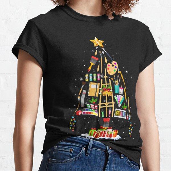 Art Xmas Tree Decor Teacher Artist Christmas Cool Artist Classic T-Shirt