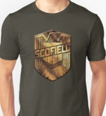 Custom Dredd Badge - Scofield T-Shirt