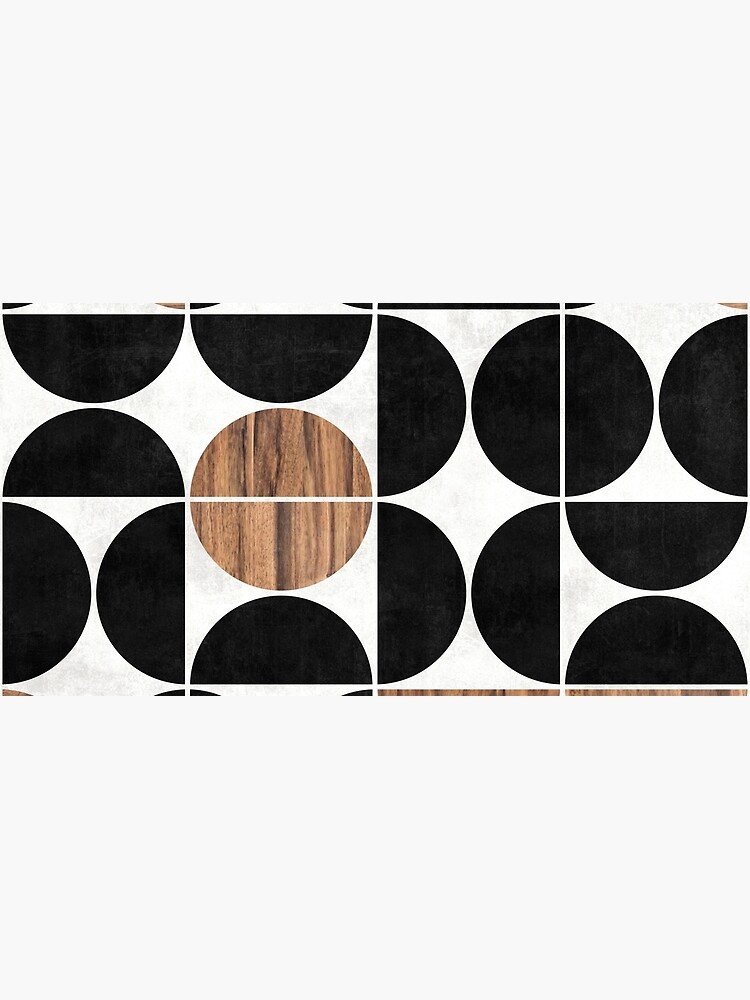 Mid-Century Modern Pattern No.1 - Concrete and Wood by ZoltanRatko