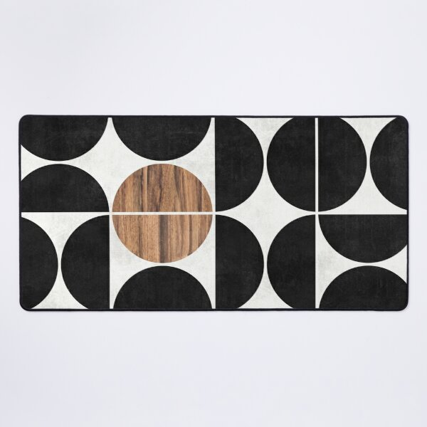 Mid-Century Modern Pattern No.1 - Concrete and Wood Desk Mat