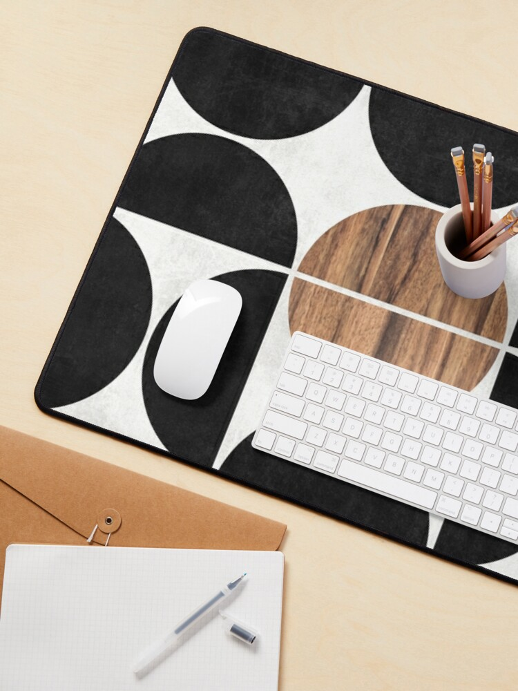 Alternate view of Mid-Century Modern Pattern No.1 - Concrete and Wood Mouse Pad
