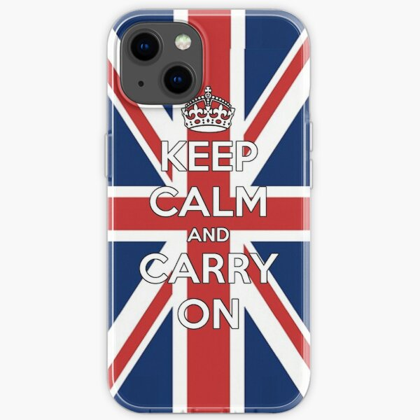 Keep Calm UK iPhone Soft Case
