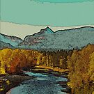 Golden River by lindasdreams