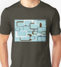 Retro Squares with Light Blue Background T-Shirt