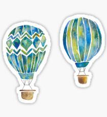 Watercolor Hot Air Balloons Sticker