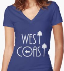 West Coast Women's Fitted V-Neck T-Shirt