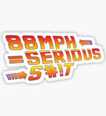 Back To the Future! 88 MPH! Sticker