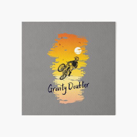 Motocross Gravity Doubter II Art Board Print