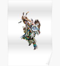Battle dance American Indians  Poster