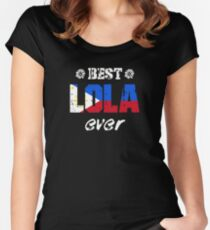 Best Lola Ever! Filipino Grandmother Women's Fitted Scoop T-Shirt